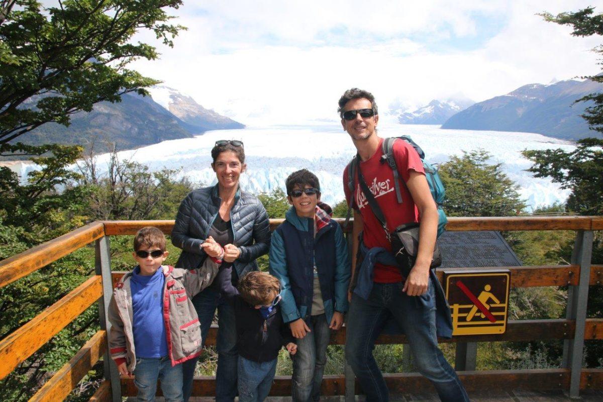 Face au glacier Perito Moreno