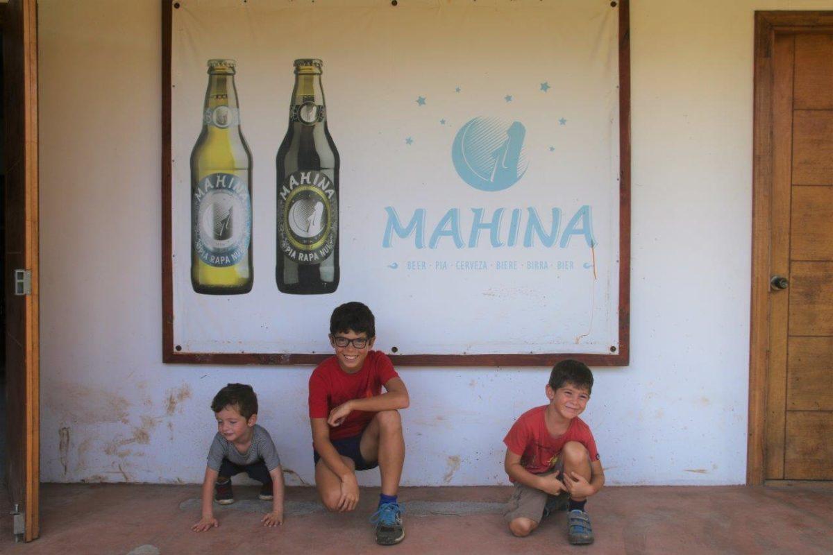 La cervecería de Rapanui chez Erwan (la brasserie Mahina de l'île de Pâques)